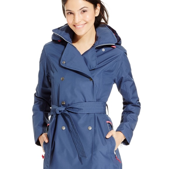 4636a6cd6d3 Helly Hansen W Wesley Blue Pink Trench Coat